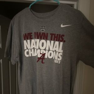 Nike Shirts - Alabama National championship T-shirt